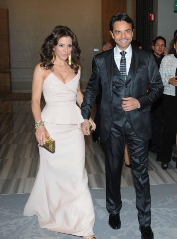 Alessandra Rosaldo con Eugenio Derbez.