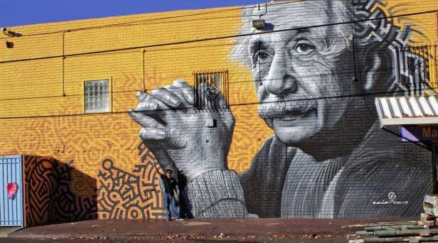 El mural Logic and Imagination realizado por Levi Ponce en Reseda. Foto: Especial