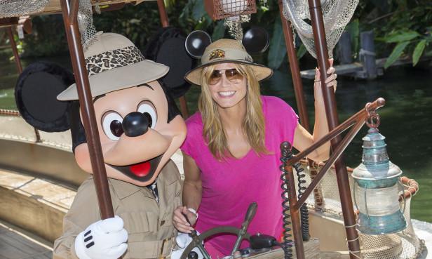 Heidi Klum se dirvitió a la grande en Disneyland. Foto: Paul Hiffmeyer/Disneyland