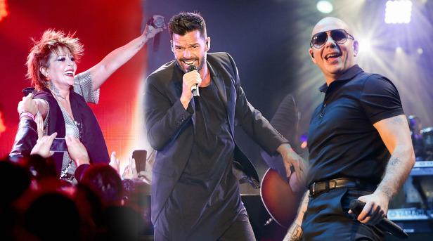 El iHeartRadio Fiesta Latina se convirtió en todo un pachangón con las actuaciones de Alejandra Guzmán, Ricy Martin, Pitbull, Jesse & Joy, La Original Banda El Limón, entre otros.