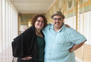 Jessica Kubzansky y Luis Alfaro.