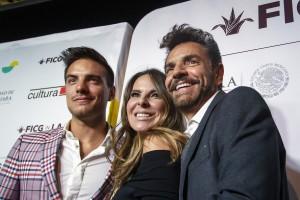 Vadhir Derbez, Kate del Castillo y Eugenio Derbez.