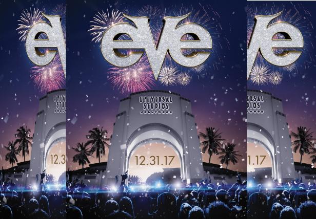 El conteo regresivo a 2018 inicia en Universal Studios Hollywood mientras la capital del entretenimiento de Los Angeles es anfitrión de EVE.
