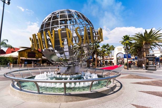 Universal Studios Hollywood globe entrance